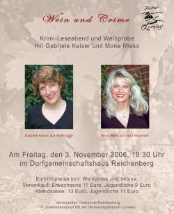 Plakat Wein und Crime