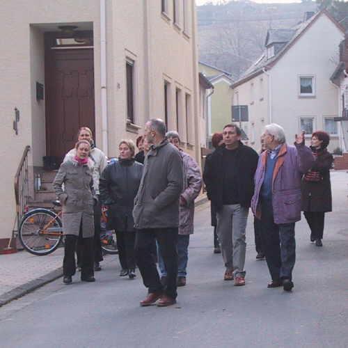 Bild der Besucher im Ortskern
