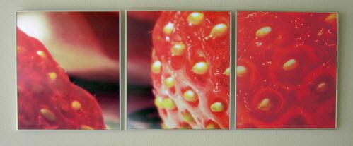 Makroaufnahme einer Erdbeere