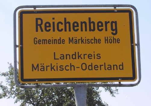 Gemeinde Reichenberg, Märkische Höhe, Amt Neuhardenberg, Kreis Märkisch Oderland