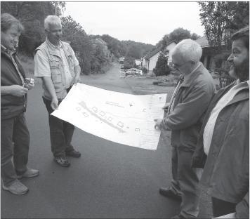 Bild von der Baustelleneinweisung