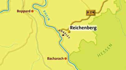 Reichenberg - Karte